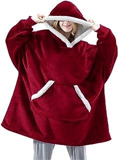 EUDOLAH Herr Hoodies Luvtröja med flanellfilt och luvtröja för män med Pocket Oversized Thickened Sweater