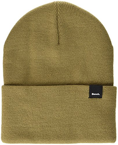 Bench Unisex CORE Turn UP Beanie Strickmütze, Grün (Petrified Oak St11331), One Size
