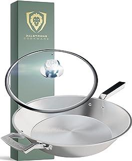 "DALSTRONG Koekenpan koekenpan - 12"" (30,5 cm) - De Oberon Series - 2,8L - 3-laags aluminium kern - zilver - met deksel & p..."