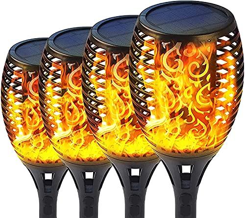 QYK -Luces de antorcha Solar al Aire Libre mejoradas, Camino de jardín, Entrada de Patio, Patio, Luces de decoración de Paisaje a Prueba de Agua, antorchas de luz Solar,96LED
