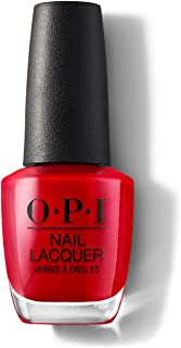 OPI Nail Lacquer Big Red, Shiny Red, 15 ml