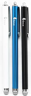 Fenix - Set of 3 [Black, Blue, White] Stylus Pen with Micro Knit Hybrid Fiber Tip for iPhone 4/5/5c/6/6+, iPad/iPad Air/iPad Mini, Samsung Galaxy S4/S5/S6/Edge, Kindle Fire, Surface Pro and More