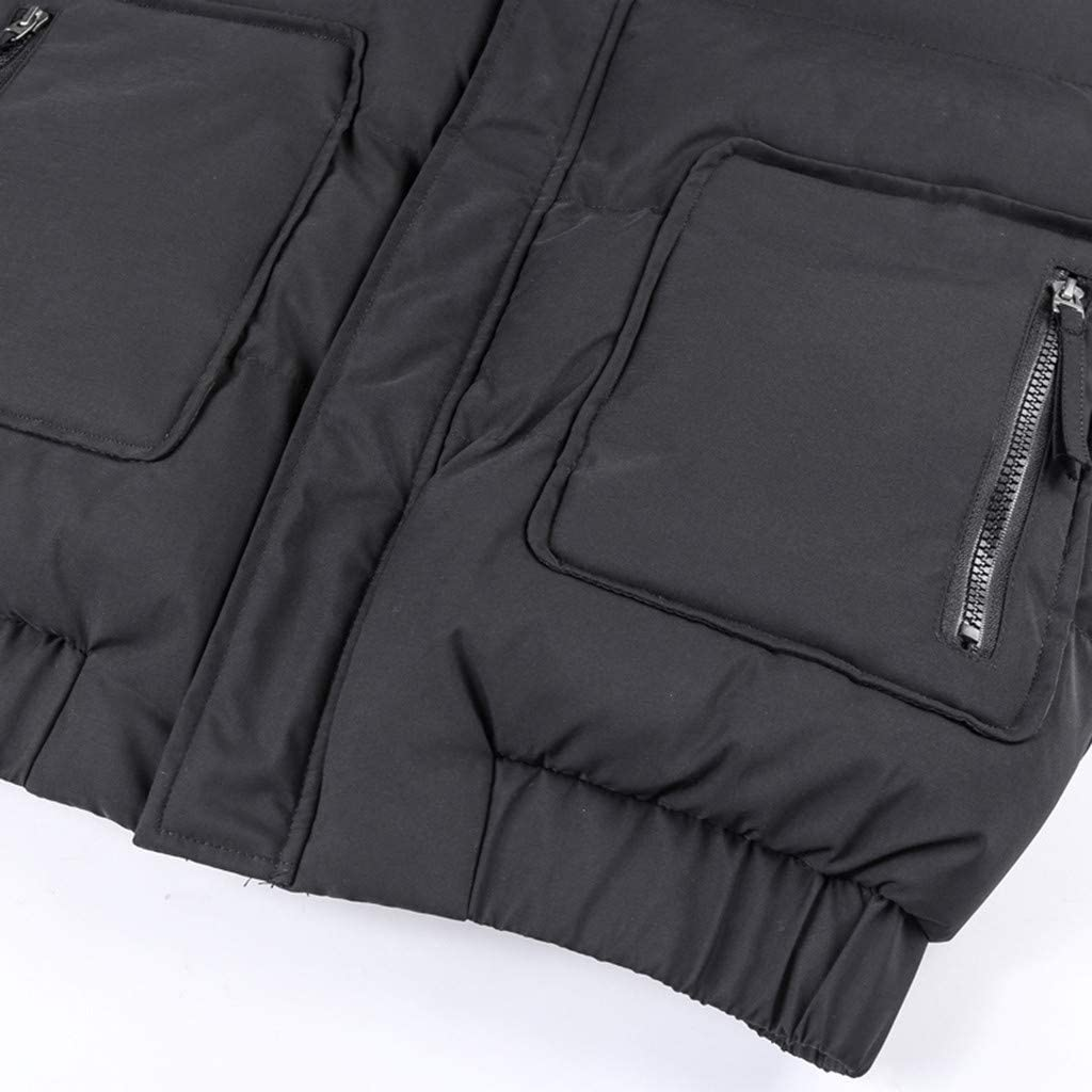 DIOMOR Mens Casual Warm Hooded Down Coat Quilted Snow Jacket Full Zipper Outdoor Puffer Jacket Thicken Parkas Anoraks