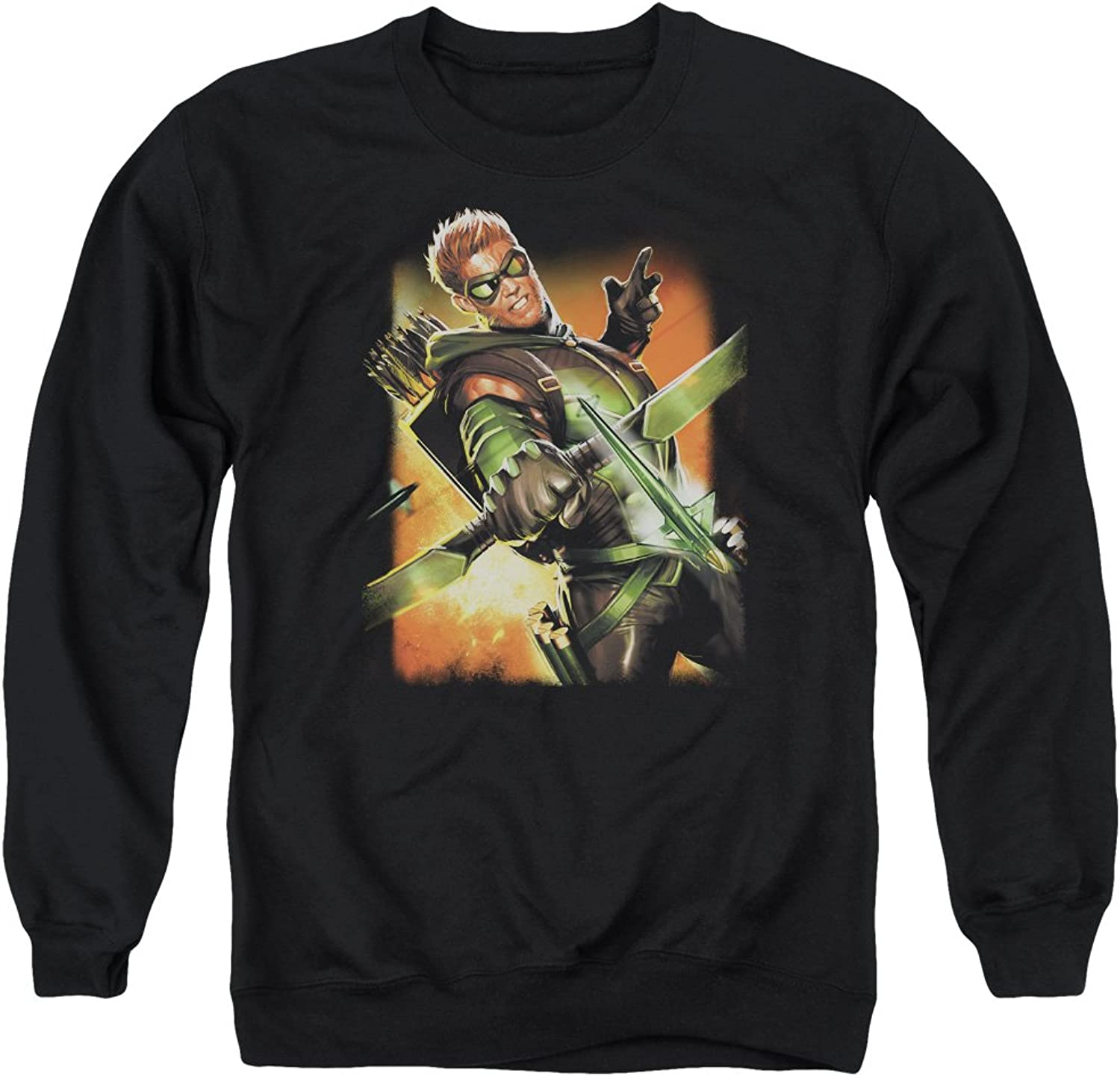 Justice League  Mens Green Arrow  1 Sweater