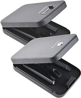 Pistol Safe,Portable Metal Travel Gun Safe Handgun Lock Security Box Case with Key Lock /3 Digits Combination Lock