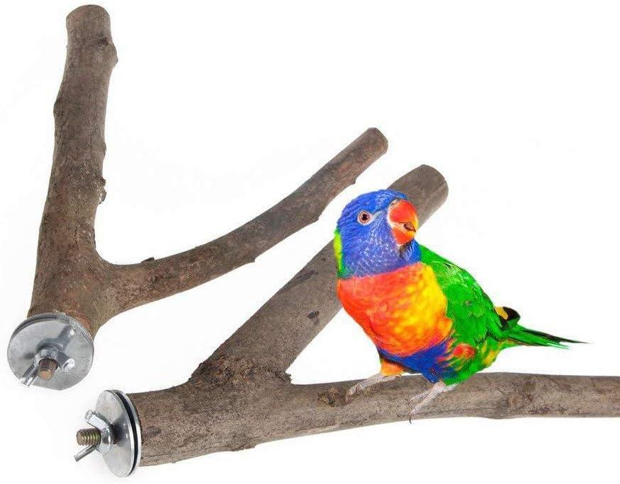 juguetes para loro Percas para p/ájaros y p/ájaros de madera natural XS Fushida 2 unidades percas
