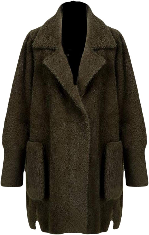 Doanpa Women's Soft Warm Premium Fleece Relaxed Thick Plush Duffle Coat