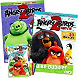 Angry Birds Coloring Book Super Set ~ 3 Pack Coloring and Activity Books with Angry Bird Stickers (Angry Birds Bad Piggies Party Supplies Bundle)