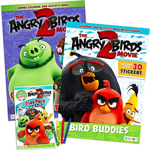 Angry Birds Coloring Book Super Set ~ 3 Pack Coloring And Activity Books  With Angry Bird Stickers (Angry Birds Bad Piggies Party Supplies Bundle)-  Buy Online In Aruba At Aruba.desertcart.com. ProductId : 28060877.