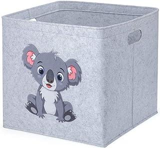 Boîte de rangement pour enfants - Panier en feutre pour chambre d'enfant - 30 x 30 x 30 cm - Boîte de rangement avec motif...