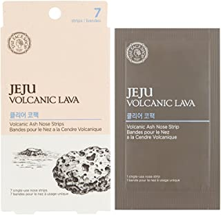 The Face Shop Jeju Volcanic Lava Volcanic Ash Nose Strips 7 Pack, 7 count Pack of 7