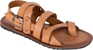 VONZO Men Tan Casual Sandal with Toe
