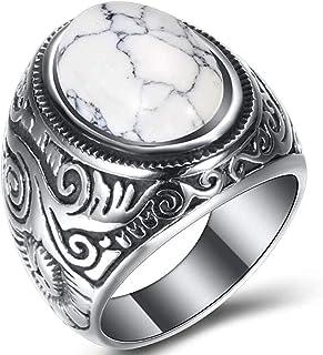 Artisan Handmade White Buffalo Turquoise /& Black Onyx Ring size 5 34 Sterling Silver