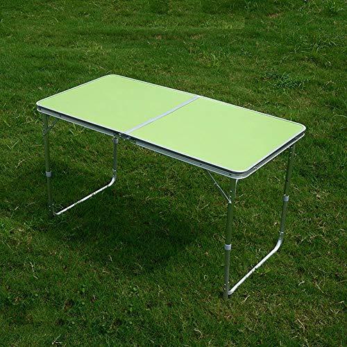 LLA klaptafel klaptafel multifunctionele avondtafel buiten houten tafel en metalen houder groen