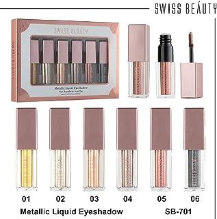 Swiss Beauty Shoebox Metallic Liquid Eyeshadow (Pack of 6)