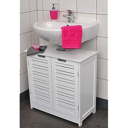 Mueble para debajo del lavabo - 2 puertas y 1 estantería - Diseño puro y sencillo