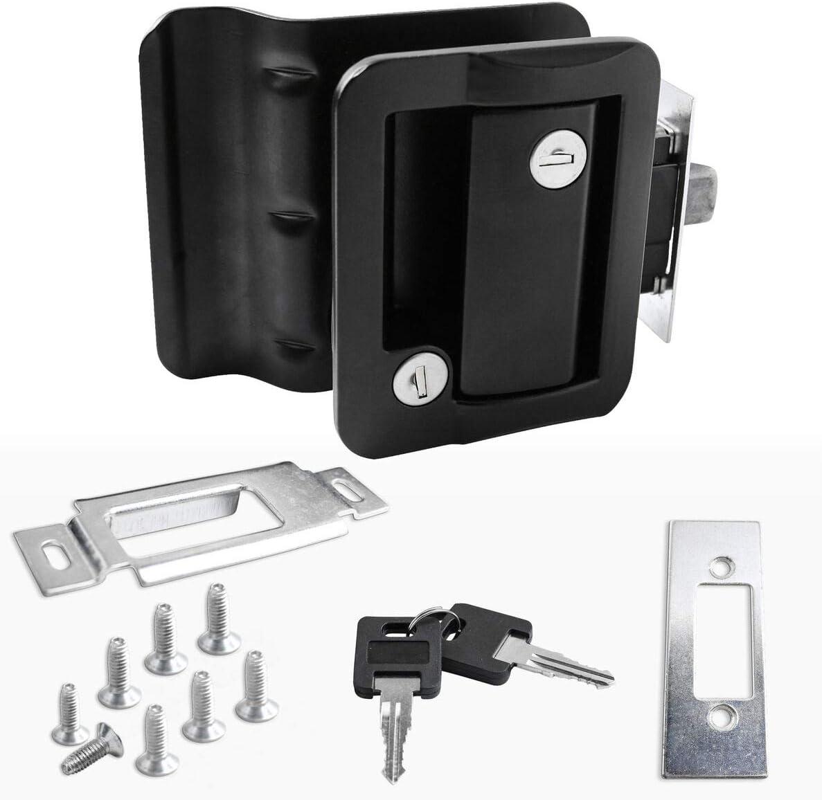 Black RV Max 48% OFF Entry Door Deluxe Lock w Camper Travel Trailer deadbolt Motorh