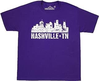 Nashville Skyline Grunge Youth T-Shirt