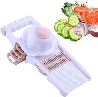ZHTY Trancheur de légumes, Assistante de Cuisine Professionnelle, légumes et Fruits durs, avec 5 Lames Librement remplaçab...