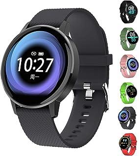 KXHWSH Impermeable Smartwatch Monitores de Actividad con Monitor de Sueño Pulsómetros Podómetro Contador de Caloría,Inteligente para Mujer y Hombre