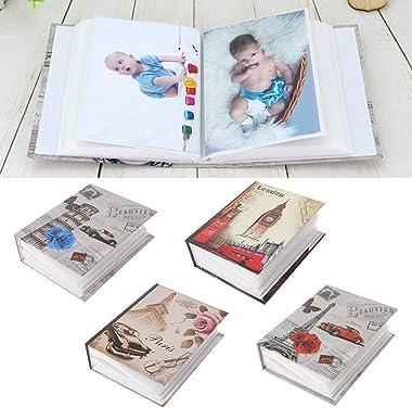 Angelliu Album Photo Scrapbooking 100 Pochettes Interstitielles Album Photo Bebe pour Bébé Famille Albums De Scrapbooking Mar