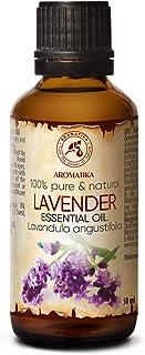 Aceite Esencial Lavanda Puro 50ml - Lavandula Angustifolia - Bulgaria - 100% Natural - usos para Calmar - Buen Sueño - Mej...