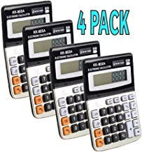 $22 » JTEP 4 Pack Office Calculators, Standard Function Electronics Calculator, 8 Digit Large LCD Display, Handheld for Daily and Basic Office, Silver