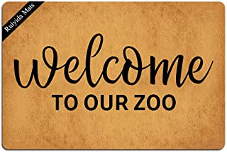 Ruiyida Welcome to Our Zoo Doormat Custom Home Living Decor Housewares Rugs and Mats State Indoor Gift Ideas 23.6 by 15.7 Inch Machine Washable Fabric Top