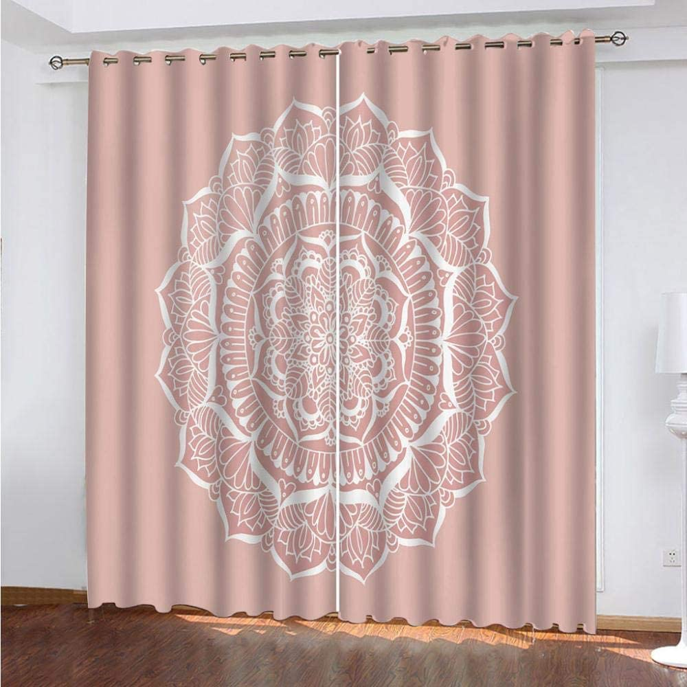 Max 80% OFF IZYLWZ Blackout 70% OFF Outlet Curtains Mandala Thermal Flowers Noise Insulated