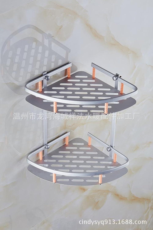 Space aluminum double triangular basket hook single-layer corner shelf storage racks Double Pearl strand
