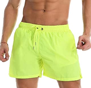 Howely Mens Quick Drying Half Pants Casual Elastic Swimsuit Swim Trunks