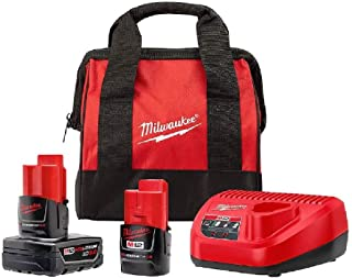 Milwaukee 48-59-2402SPC M12 12V Li-Ion Starter Kit with (1) 3.0 Ah and (1) 1.5 Ah Battery Pack & Charger
