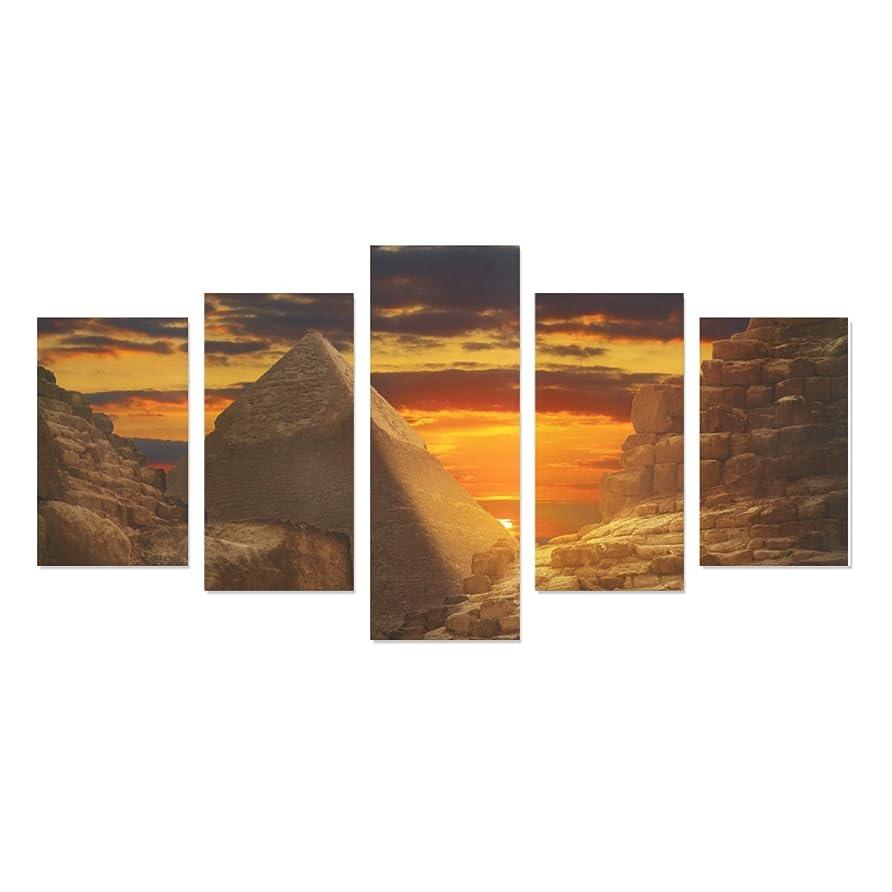 食物ギネスのホストエジプトスフィンクスとピラミッド5ピース壁アートペイントプリントキャンバスホーム装飾リビングルームキッチンの装飾( 12?x 20inch 2個、12?x 23inch 2個、12?x 31inch 1pc )