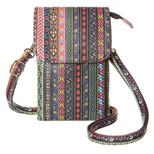 MINICAT Roomy Pockets Series Small Crossbody Bags Cell Phone Purse Wallet for Women(Upgraded National-Style)