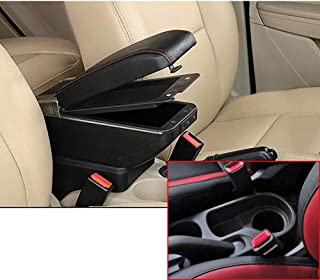 SLONG for Hyundai Solaris 2/Hyundai Accent/Verna 17-18 High-End Car Armrest Center Console Accessories with 7 USB Charging Port Cup Holder Removable Ashtray Black