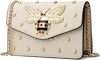FTSUCQ Womens/Big Girls Bee Chain Satchels Shoulder Handbags Casual Messenger Bag Hobos Satchels Purse