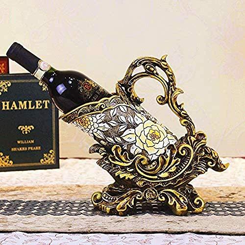 CESULIS Vino europeo rack hotel bodega retro resina botella rack escritorio cocina expositor decoraciones arte arte arte arte vino exhibición