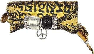 Anisch de la Cara - Signori Braccialetto - Earth Peace - Tibetan Wish Desiderio Tibetano Realizzato con Bandiere di Preghi...