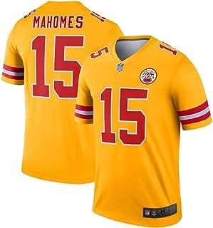 Franklin Sports Men's #15 Patrick Mahomes Kansas City Chiefs Inverted Legend Jersey - Gold