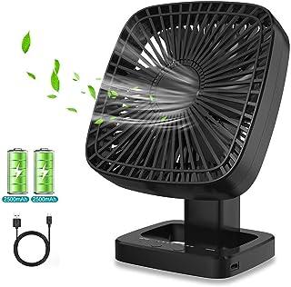Himylife Ventilador USB, Silencioso Fan Portátil con Pilas Recargable para Viajes, Oficina, Hogar,Camping, Cochecito de bebé, Coche, Caminadora