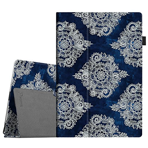 Fintie Case for Surface Pro 7 / Pro 6 - Premium Vegan Leather Slim Fit Folio Cover with Stylus Holder, Compatible with Microsoft Surface Pro 5 / Pro 4 / Pro 3 and Type Cover Keyboard (Indigo Dreams)