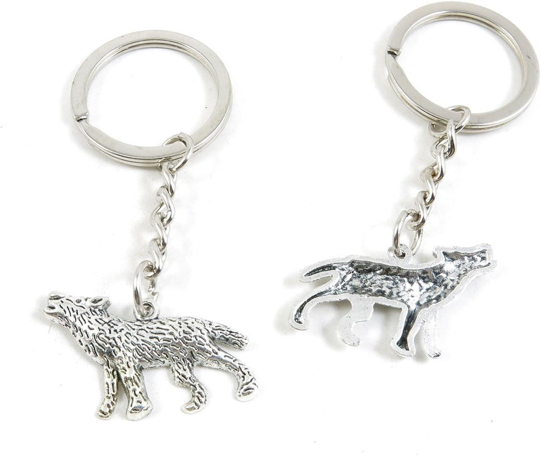200 Pieces Fashion Jewelry Keyring Keychain Door Car Key Tag Ring Chain Supplier Supply Wholesale Bulk Lots O1GO1 Wolf Wolfhound Dog