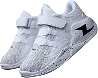 Hopscotch Boys PU Velcro Athletic Shoes in White Color