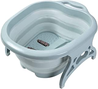 AIWANTO Collapsible Foot Soaking Bath Basin with Massage Roller | Large Size for Soaking Feet | Pedicure and Massager Tub ...