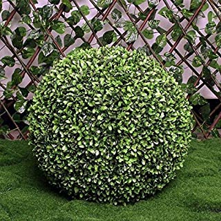 NUTY DESTY 20 Topiary Ball - New 20CM 25CM 30CM 40CM Artificial Green Hanging Grass Plant Ball Ornament Topiary Tree Wedding Party Home Outdoor Decoration