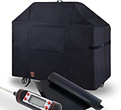 Yukon Glory 7108 Weber Summit Grill Cover - 400 Series Gas Grill - Waterproof & Weatherproof Gas BBQ Equivalent to Weber 7108 Grill Cover Bonus Meat & Poultry Thermometer + BBQ Grilling MATT