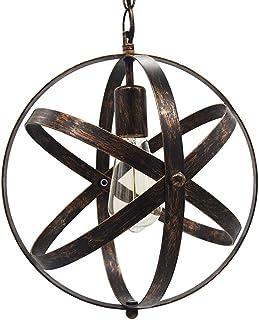 Huahan Haituo vintage industrialna kula wisząca oprawa oświetleniowa metal kulisty zmienny wiszący żyrandol sufit oprawa o...
