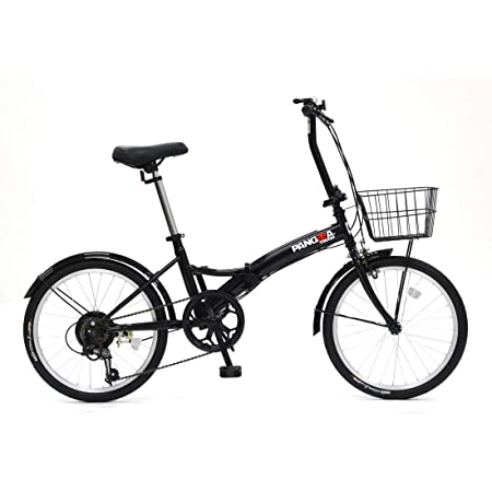 PANGAEA(パンゲア) パンクしない折りたたみ自転車 タフ ノーパンクタイヤを採用 20インチ 6段変速 バスケット/泥除け装備 94201