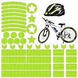 Comius Sharp Pegatinas Reflectantes para Bicicletas, 42 Piezas Adhesivos Reflectantes Pegatinas Reflectantes Kit para Cascos Bicicletas, Cochecitos, Sillas de Ruedas (B)