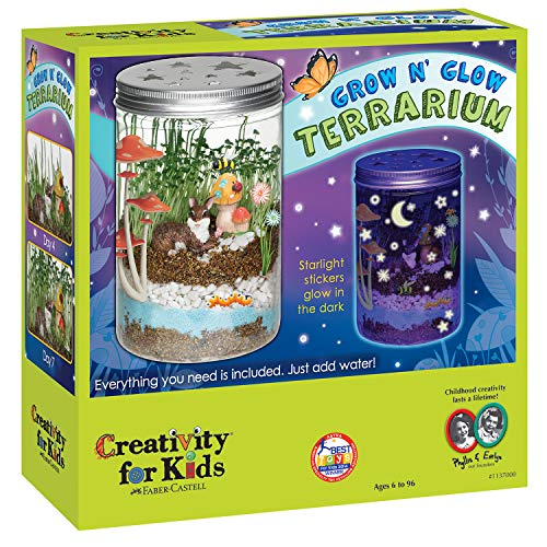 Creativity For Kids Grow 'N Glow Terrarium Science Kits for Kids - Create Your...